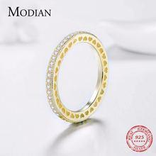 Modian романтическое кольцо на палец из серебра 100% пробы с