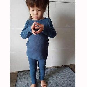 Image 4 - HITOMAGIC 2019 הגעה חדשה בני בנות בגדים לילדים מצולעים סט מצויד עם מלא שרוול ילדים רך סתיו חורף בד
