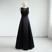 Black Satin Lace Beading A-Line Floor -Length Wedding Mother Of The Bride Dresses Chapel Train Custom Made