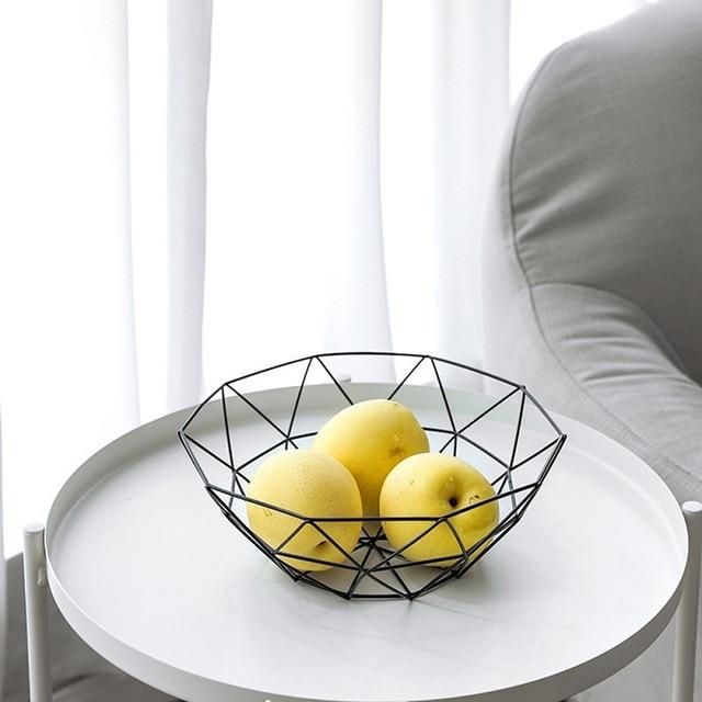 Kitchen Basket Container Bowl Metal Wire Basket Kitchen Drain Rack Fruit Vegetable Storage Holder Snack Tray Storage Bowl 2