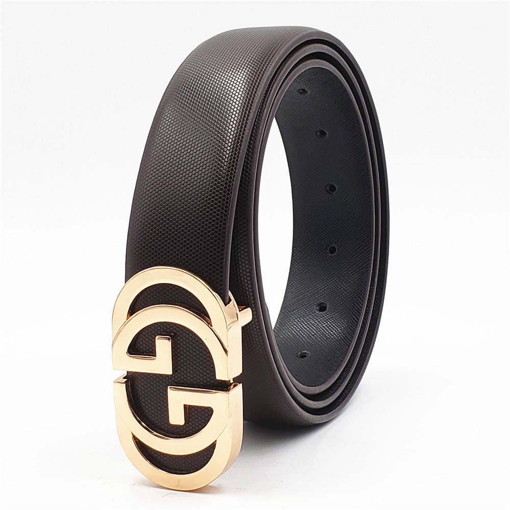 Luxury Belt For Men Women  Smooth Buckle Strap High Quality Genuine Real Leather Belt Fashion Jeans Belt