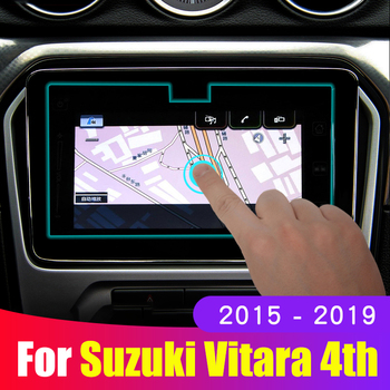 For Suzuki Vitara 4th 2015 2016 2017 2018 2019 Tempered Glass Car Navigation Screen Protective Touch Display Screen Film Sticker image