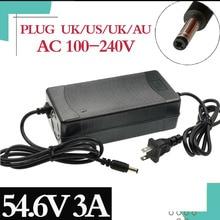 54.6V 3A pil şarj cihazı için 13S 48V Li ion pil elektrikli bisiklet lityum pil şarj cihazı yüksek kaliteli güçlü ısı dağılımı...