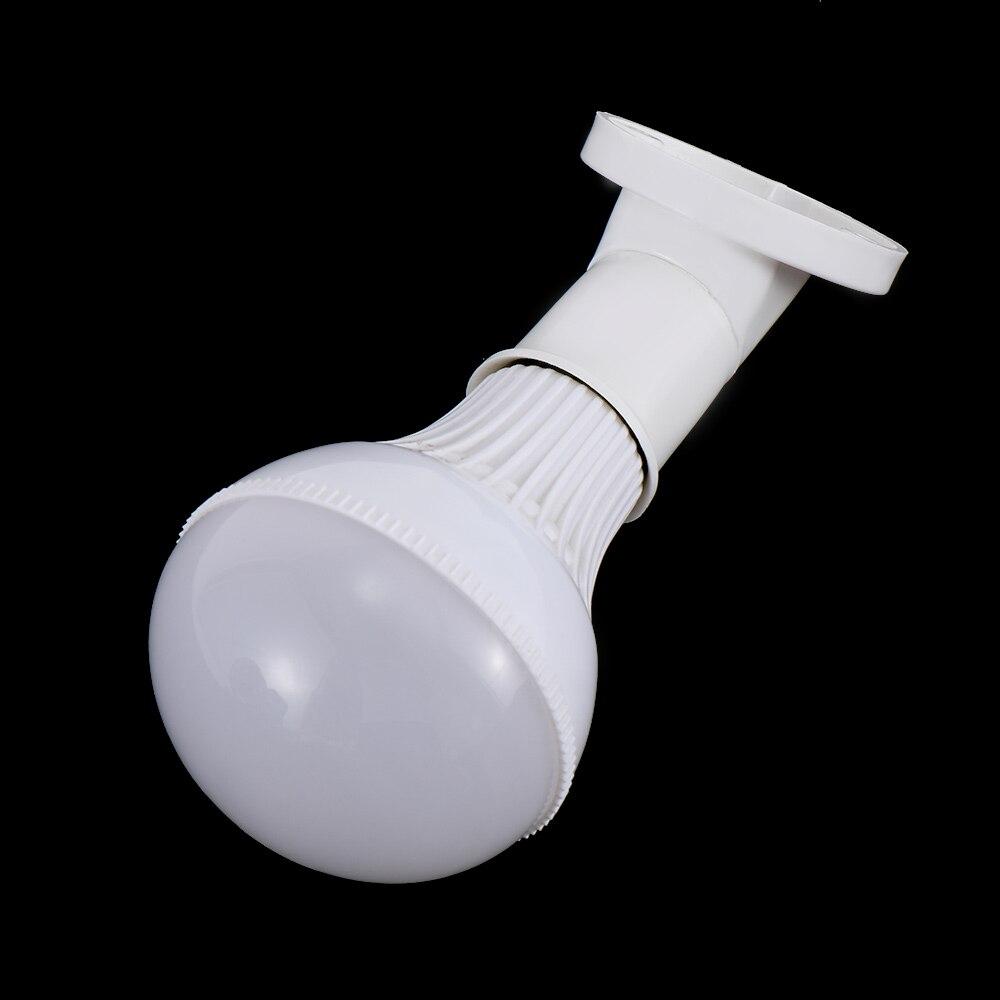 E27 Lamp Base Socket 45 Degree Angle Oblique Screw Plastic Light Bulb Base Wall Lamp Holders Adapter Converter AC 250V