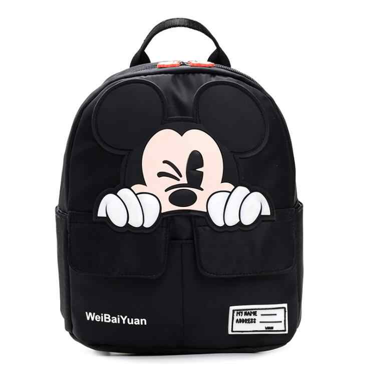 Quente dos desenhos animados mickey crianças mochilas crianças sacos de escola do jardim de infância mochilas bebê meninos meninas da criança bonito