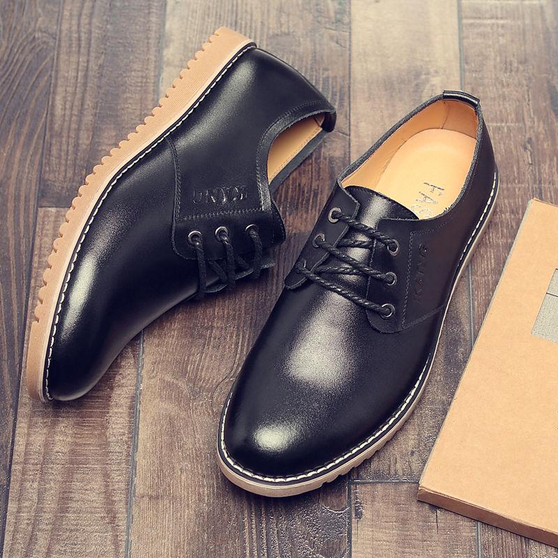Купить новинка 2020 года; мужская повседневная обувь; кожаная летняя