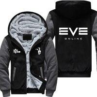USA Plus EU American Size EVE Online Men's Women's Printing Pattern Thicken Fleece Zipper Hoodies Sweatshirts Coat Jacket