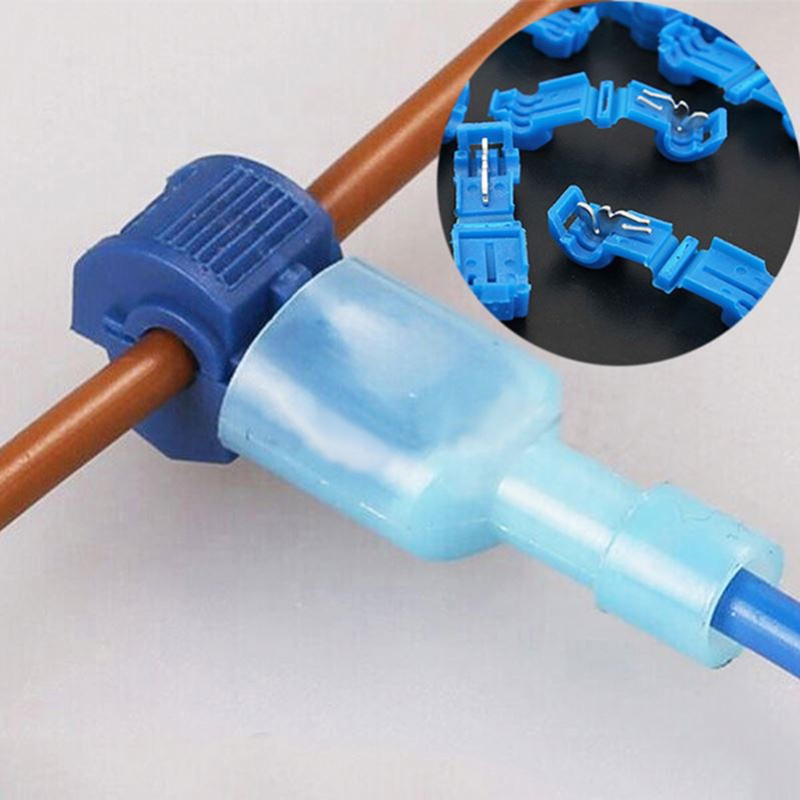 10/20 Set Electrical Cable Connectors T Tap Wire Quick Waterproof Disconnect Spade Terminal Clamp Ring Terminal Butt Connector|Terminals| - AliExpress