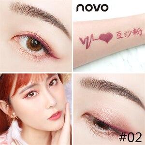 6 цветов жидкая подводка для глаз карандаш NOVO косметика для глаз долговечная Водонепроницаемая Черная Подводка для глаз ручка для женщин макияж