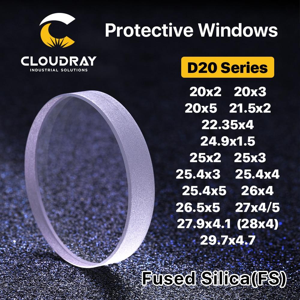 Cloudray laserkaitsvad aknad D20 - D29 seeria kvartsiga sulatatud ränidioksiid kiudlaseriga 1064nm Precitec Raytools WSX