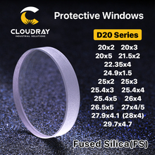 Quartz Glass Fiber Laser Protective / Protection Windows/Mirror Lens  Size: 22.35x4mm Materials: Domestic Quartz