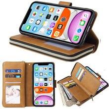 Роскошный бумажник с застежкой-молнией кожаный чехол для Oneplus 3/5/5T/6/6T Чехол Флип Магнитный 9 карт ультра тонкий для Oneplus Nord чехол Крышка