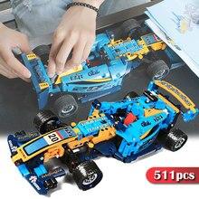 511 pçs brinquedos de corrida carro blocos de construção cidade veículo especialista tijolos conjunto cerator veículo modelo crianças brinquedos crianças presente
