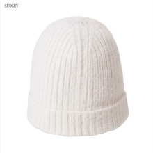 SUOGRY Women Winter Cashmere Hats Beanie Ladies Knit Plush Hat for Autumn Knitted Wool Comfortable Warm Caps