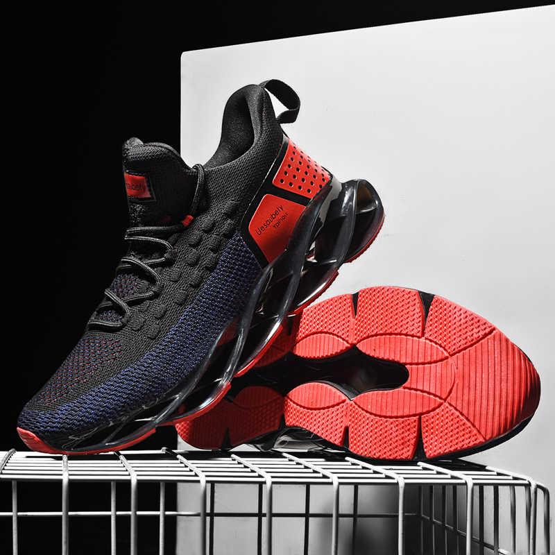 Nieuwe Ademende Loopschoenen Voor Mannen Blade Demping Sneakers Outdoor Sportschoenen Professionele Training Schoenen Zapatills