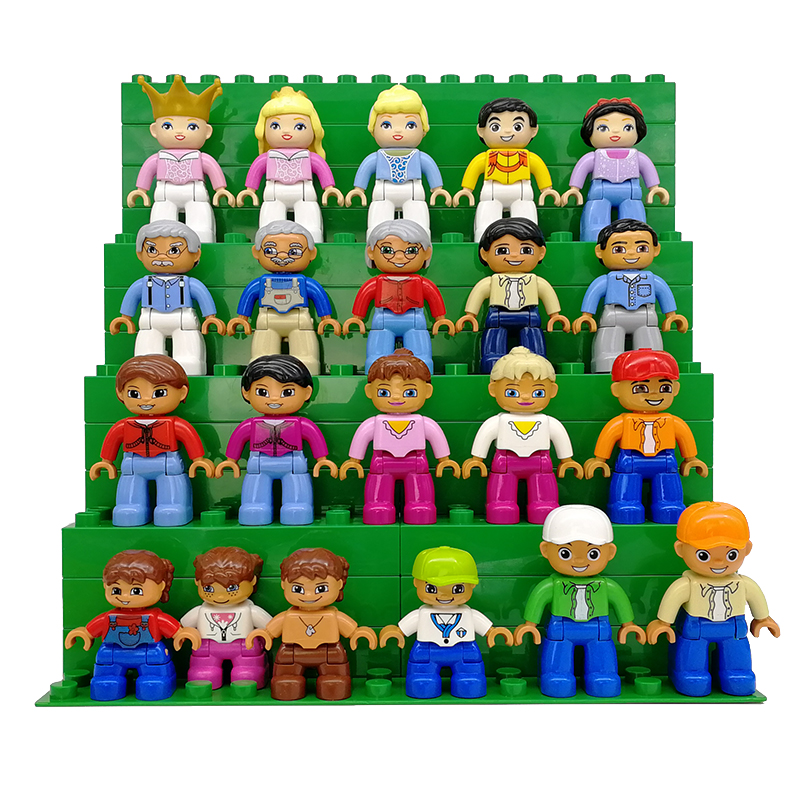 Big Building Blocks Character Family Series Figures Compatible Figure Human Model Plastic Toys For Large Blocks Kids Gift