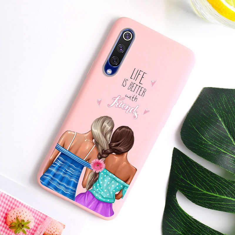 Чехол из ТПУ для Xiaomi mi, 9, 8, SE, чехол, Модный чехол для супермамы, маленькой девочки, чехол Etui ярких цветов для Xiaomi mi, 8, mi, 9, SE, mi, 9 T