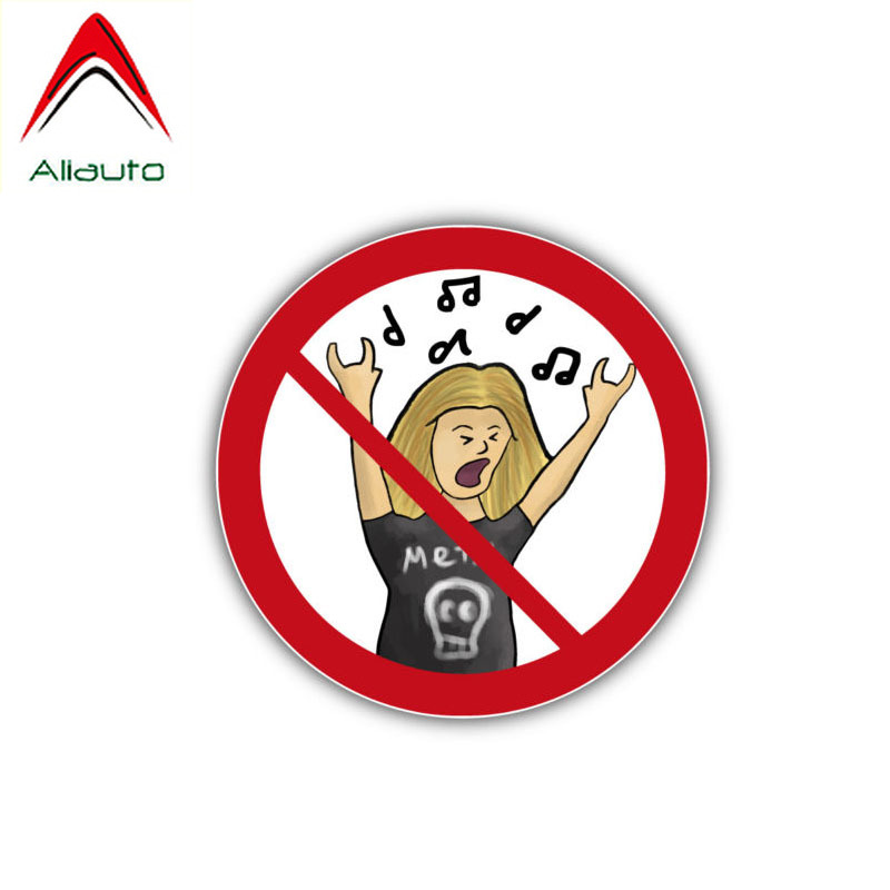 Aliauto Lovely Car Sticker Creative Noise Music Warning <font><b>Accessories</b></font> PVC Decal for <font><b>Gti</b></font> <font><b>Vw</b></font> <font><b>Golf</b></font> <font><b>5</b></font> Nissan Juke Logan,10cm*10cm image