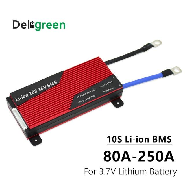 BMS 10S 80A 100A 120A 150A 200A 250A PCM/PCB/BMS لبطارية ليثيوم أيون NCM للدراجات الكهربائية وسكوتر حماية الدراجة الإلكترونية