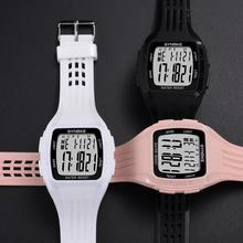 SYNOKE цифровые часы для мужчин и женщин модные спортивные водонепроницаемые светодиодный дисплей простые часы электронные наручные часы для бега