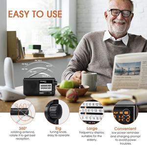 Image 2 - Портативный радиоприемник PRUNUS, AM FM/SW, ретро, коротковолновый радиоприемник, AUX/TF карта, MP3, перезаряжаемое радио с батареей DSP 2200 мАч