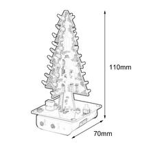 DIY 3D Christmas Tree LED Kit Seven Colors LED Flash Circuit Parts Electronic Funny Suite Christmas New Year Present(China)