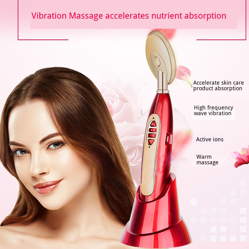 Ion Electric Eye Massager Improve Eyes skin Remove Dark Circles Magic Spoon Heating Vibration Beauty machine facial Care tools