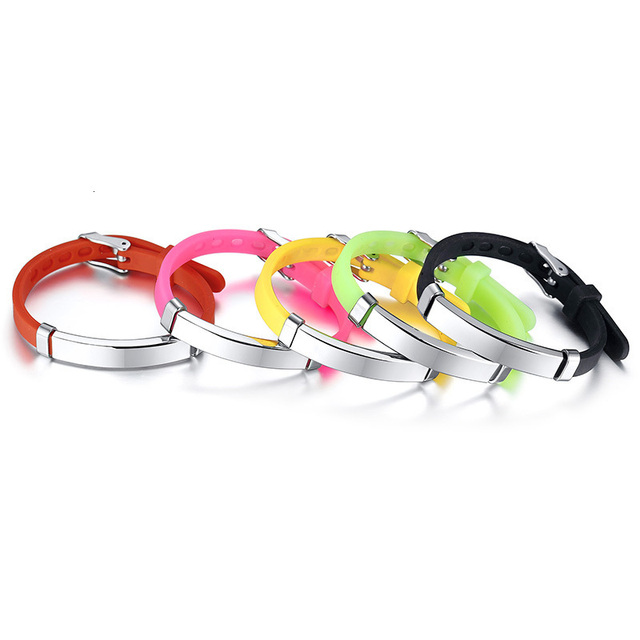 Пользовательские детские силиконовые браслеты с идентификацией