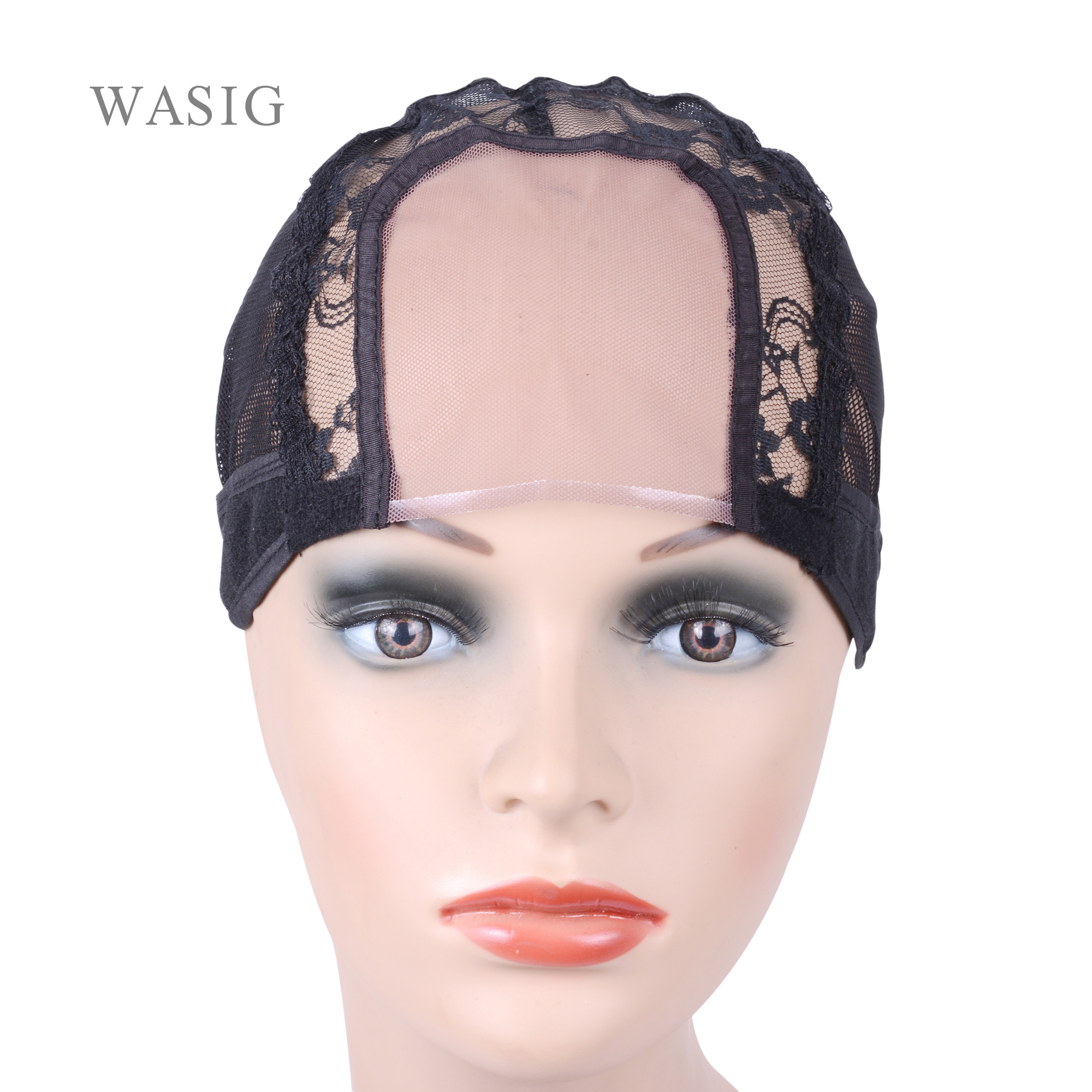 3.5 Inch X 3.5 Inch U Part Wig Cap For Making Wigs With Adjustable Strap On The Back Swiss Lace Hairnets Weaving Wig Cap