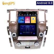 12.1 Cal Android 9.0 pionowy ekran tesli dla NISSAN PATROL 2010 2018 odtwarzacz samochodowy nawigacja GPS System Audio FM