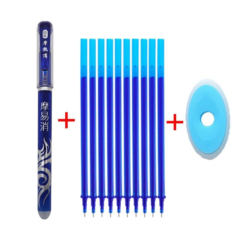 Erasable Pen Refill 12Pcs/Set Hot Office Gel Pen 0.5mm Rod Magic Erasable Pen Pilot Blue/Black Ink School Stationery Gift