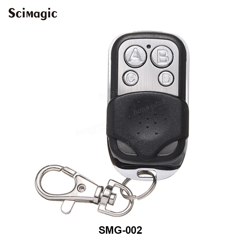 433mhz Clone Remote Control Copy Controller Wireless RF Transmitter Switch 4 Button For Car Garage Gate Door Key With Keychain