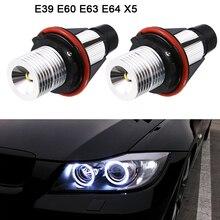 2pcs 1000LM Angel Eyes Car LED Halo Ring Marker Bulbs Light 5W 6000K White Fit for BMW X5 E39 E53 E60 E63 E64 Cars Autos