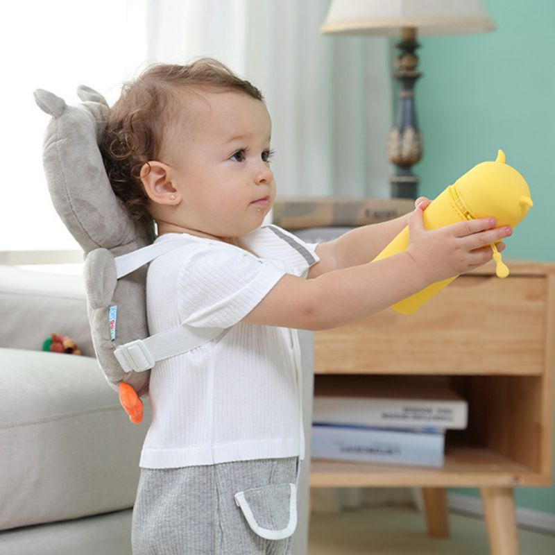 Baby Cute Owl Head Cartoon Safety Pad Cushion For Baby Walkers Protective Prevent Shatter-resistant Pillow Head Injured