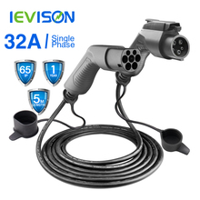 EV Charging Cable 32A 7.2KW Electric Vehicle Cord for EVSE Car Charger Station Type 1 to 2, SAE J1772 5M For Bolt, Fiat 500e