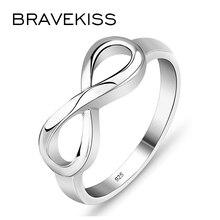 BRAVEKISS многоразмерные посеребренные кольца романтическое Кольцо Бесконечность любовь модное ювелирное изделие для женщин подарок на день Святого Валентина PR0211