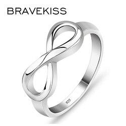 Bravekiss anéis banhados à prata, multi-tamanho, romântico, amor do infinito, 2019, joias da moda para mulheres, presente do dia dos namorados pr0211 pr0211