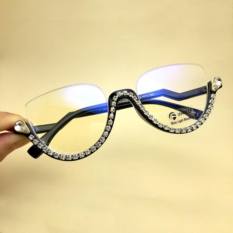 Kedi göz elmas güneş gözlüğü moda kadınlar Shades 2020 kore marka ayna Rhinestone gözlük UV400 şeffaf güneş gözlüğü erkekler