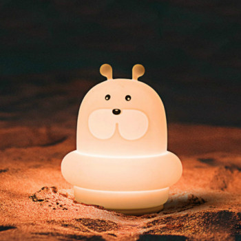 LED Night Light Colorful Children 's Nightlight USB Rechargeable Baby Dimmable Animal Lamp Seal Fish ночник usb night light night s surrender