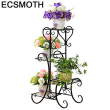 Planten Standaard Decorative Metal Outdoor Decoration Shelves Balcone Varanda Plant Stand Balcony Shelf Balkon Flower Iron Rack(China)