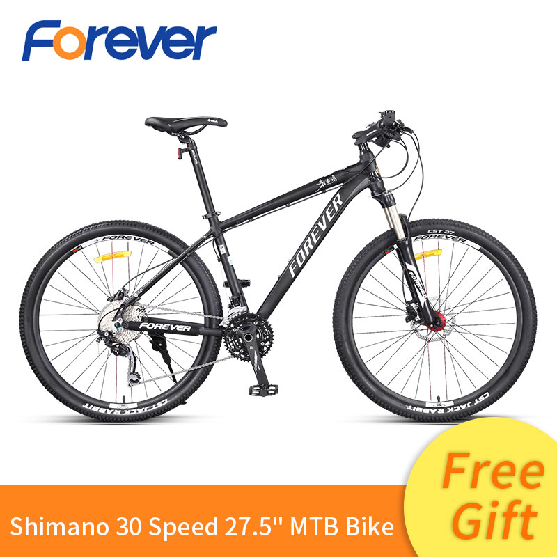 Forever Men Mountain Racing Bike Light Special Aluminum Alloy Frame Bicycle Hydraulic Disc Brake Cycle MTB 30 Speed Bike 27.5in