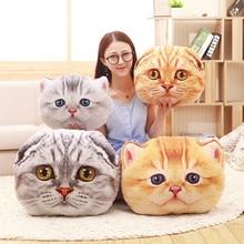 купить Simanfei Cat Pillow Plush Toys Dolls Stuffed Animals Kids Gift Travel Throw Pillow For Chairs Car Decorative Cushion Dakimakura дешево