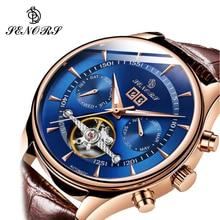 SENORS 2020 Luxury Men Mechanical Wristwatch Stainless Steel GMT Watch