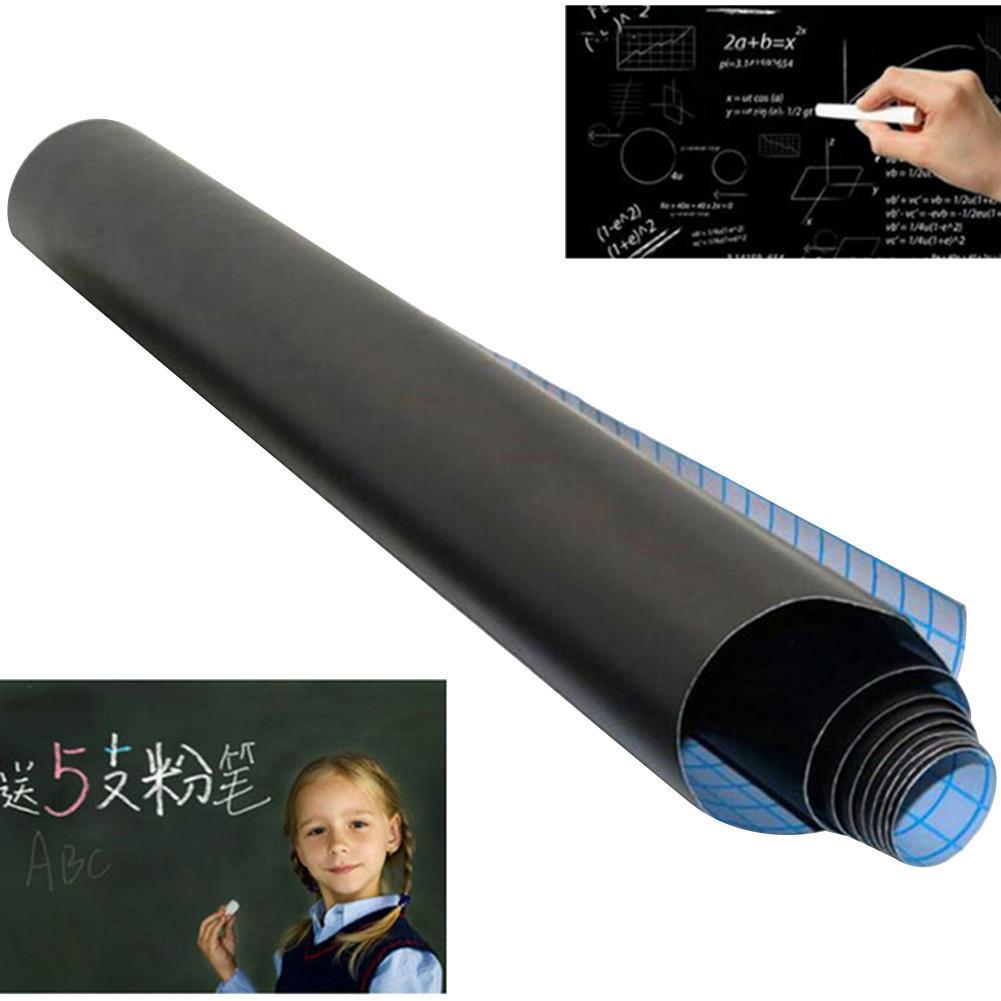 Blackboard PVC Removable Waterproof Chalkboard Self-Adhesive Blackboard Sticker School Home Wall Decal Office School Supplies