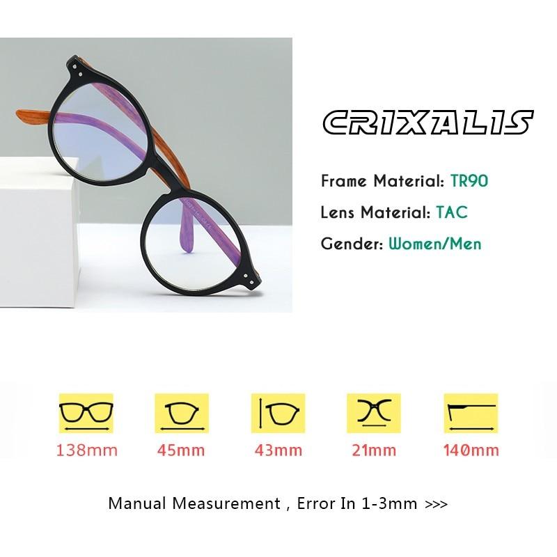 CRIXALIS occhiali da lettura Anti luce blu per donna uomo TR90 montatura flessibile cerniera a molla Computer presbiopia occhiali donna UV400 2