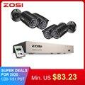 ZOSI 8CH CCTV система 4 шт 720 p/1080 p наружная Водонепроницаемая камера безопасности DVR комплект День/Ночь домашняя система видеонаблюдения