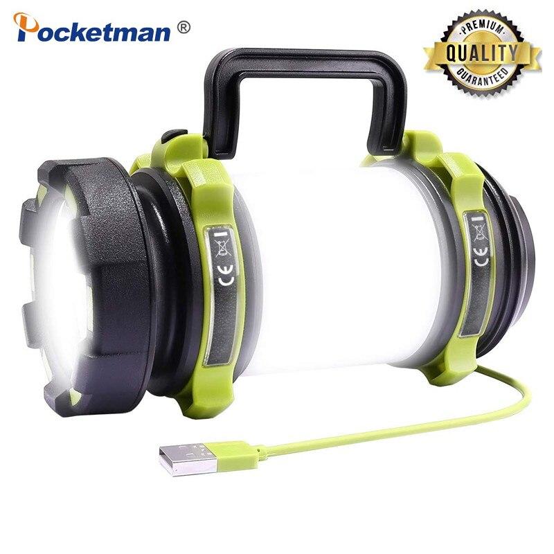 20000lm led lanterna de acampamento usb recarregável lanterna à prova dwaterproof água para furacão emergência caminhadas pesca com baterias