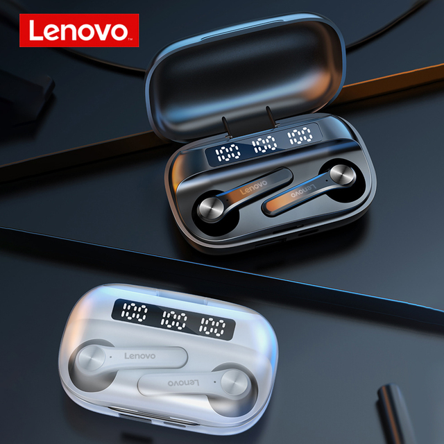 Lenovo QT81 TWS Wireless Headphone Stereo Sports Waterproof Earbuds Headsets with Microphone Bluetooth Earphones HD Call 1200mAh 6
