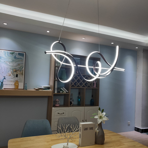 Image 4 - 커피 마무리 매달려 램프 현대 Led 샹들리에 침대 다이닝 룸 주방 서스펜션 조명기구 펜던트 샹들리에 정착물
