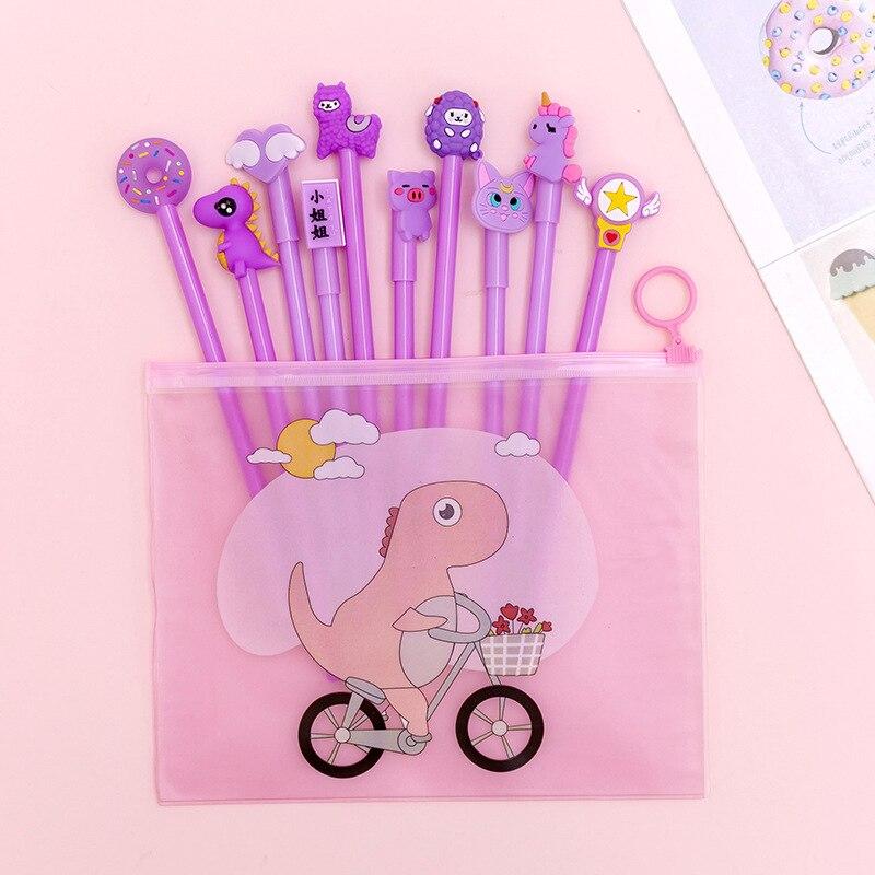 Корейский стиль гелевая ручка для творчества наборы для девочек Милая гелевая ручка в стиле мультфильма 10 листов